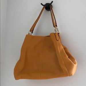 Yellow Coach shoulder bag